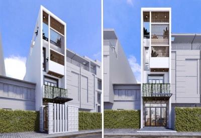 Thiết Kế Nhà Phố 3 Tầng có Sân thượng theo xu hướng nhà phố 2020