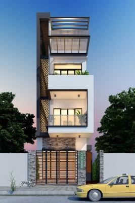 Mẫu nhà phố 3 tầng 4.5m x 20m đẹp nổi bật với nội thất sang trọng, đẳng cấp
