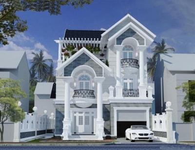 Thiết kế biệt thự 3 tầng mini kiểu Pháp đẹp miễn chê
