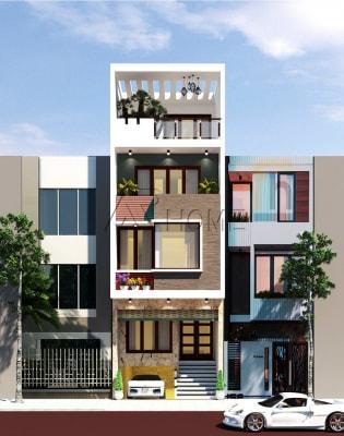 Mẫu thiết kế nhà phố 3 tầng hiện đại của anh Thiện, Hà Đông
