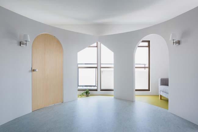 Xây tường cong giúp không gian thêm rộng và sang chảnh hơn hẳn, tại sao không?