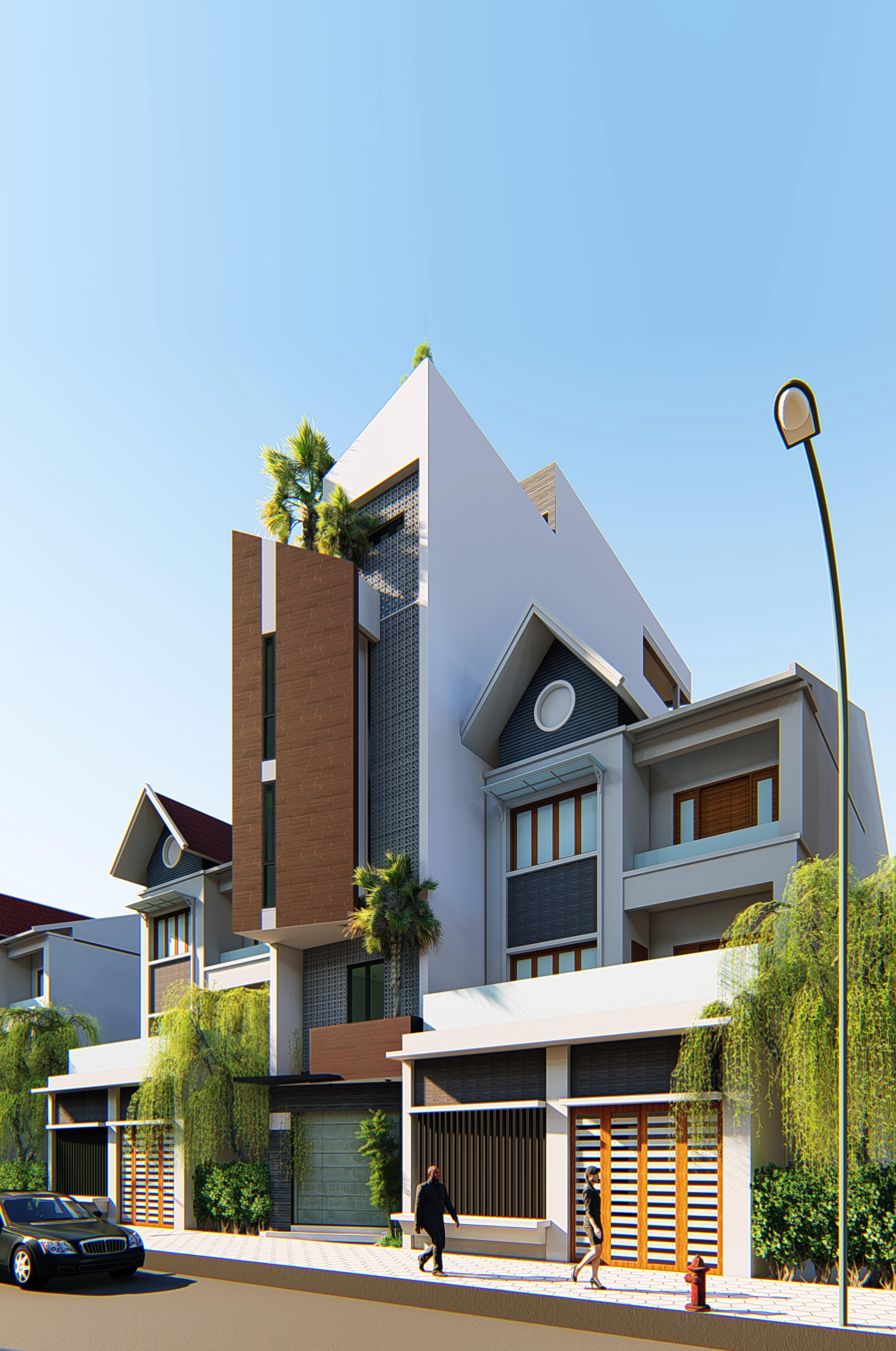 Siêu độc với thiết kế nhà phố 5 tầng hiện đại của anh Ngọc Anh