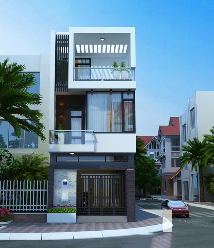 Tuyệt đẹp với 7 mẫu Thiết kế liền kề hiện đại 3 tầng mặt tiền đẹp