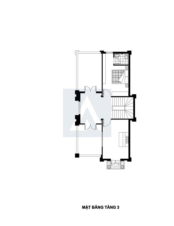 Mẫu thiết kế biệt thự 3 tầng phong cách tân cổ điển anh Trung, Hà Nội