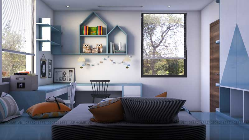 Mẫu thiết kế nội thất nhà phố KĐT mới Thanh Hà (Tiếp theo)