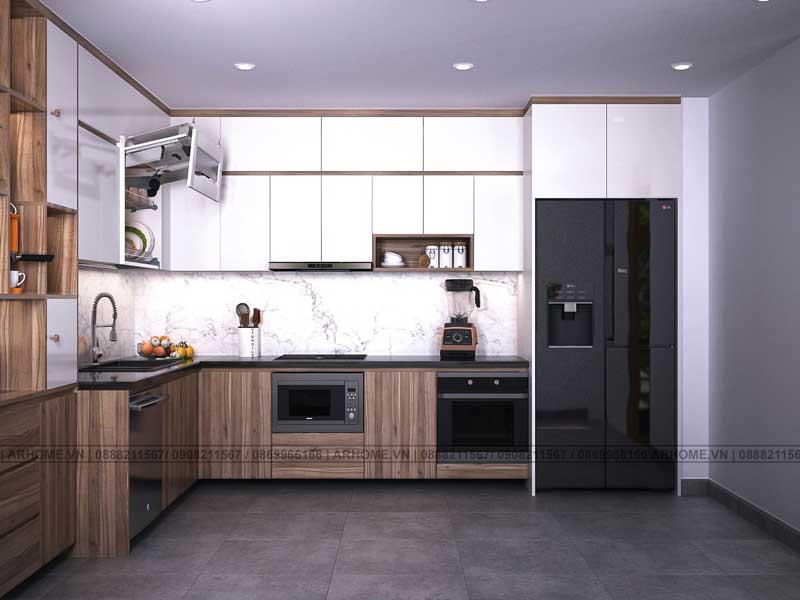 Tổng hợp mẫu thiết kế nội thất tủ bếp hiện đại