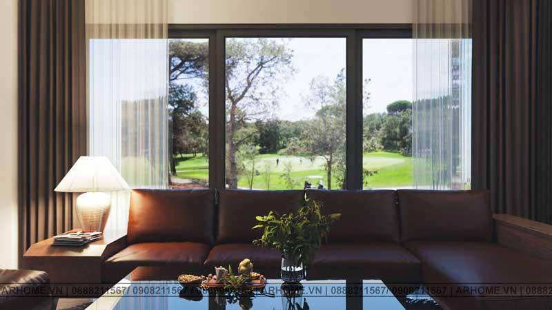Sang trọng với thiết kế nội thất nhà liền kề 5x20m