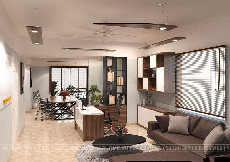 Thiết kế toà nhà văn phòng hiện đại với 2 mặt tiền nổi bật
