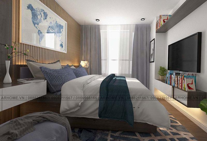 Thiết kế nội thất căn hộ hiện đại 2808-S3 chung cư Season Avenue