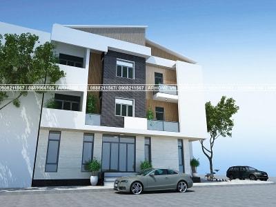 Mẫu thiết kế nhà phố 3 tầng hiện đại của anh Thịnh, Hà Nam