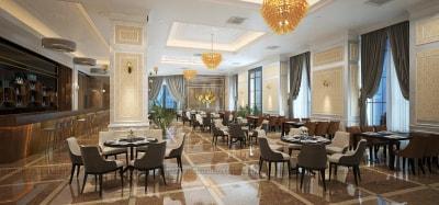 Tham khảo mẫu thiết kế nội thất nhà hàng Tecco Complex Thanh Trì