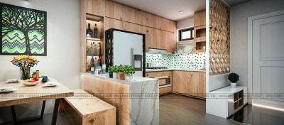 Ngắm vẻ hiện đại trong thiết kế nội thất chung cư Linh Đàm