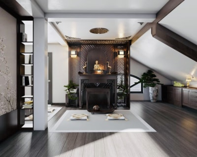 Hướng đặt bàn thờ sinh đại cát trong thiết kế nội thất