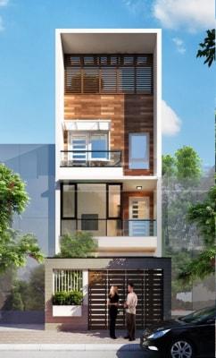Nhà phố 4 tầng 5x18m thiết kế hợp lý thoáng mát 4 mùa