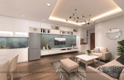 Nhẹ nhàng với mẫu thiết kế nội thất căn hộ 2 ngủ chung cư SDU Trần Phú