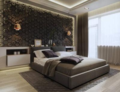 Phòng ngủ biệt thự đẹp hơn nhờ ý tưởng thiết kế tường độc đáo