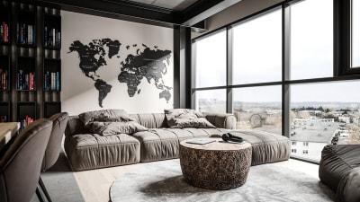 Thiết kế nội thất căn hộ chung cư phong cách công nghiệp hiện đại, nổi bật