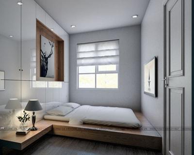 Vẻ đẹp tươi trẻ của 3 mẫu thiết kế nội thất phòng ngủ nhà anh Quốc, Hà Nội