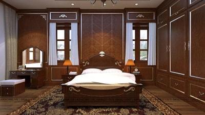 Mẫu thiết kế nội thất phòng ngủ nhà anh Hùng tuyệt đẹp