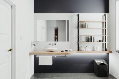 Mẫu thiết kế nội thất nhà tắm đơn giản theo phong cách Nhật bản