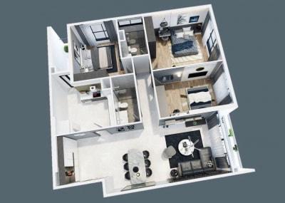 Rạng rỡ với Thiết kế nội thất chung cư đẹp 3 phòng ngủ 127m2