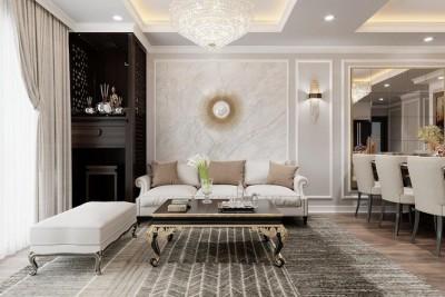 Căn chung cư mang phong cách tân cổ điển đẹp sang trọng