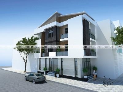 Mẫu thiết kế nhà hiện đại 3 tầng 2 mặt tiền độc đáo