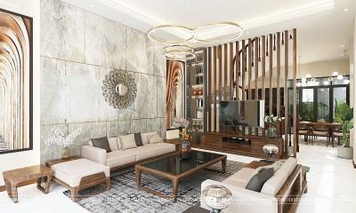Thiết kế nội thất gỗ tự nhiên cho nhà phố Sơn La