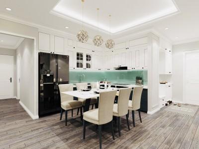 Tuyệt đẹp với những mẫu thiết kế nội thất tủ bếp tân cổ điển của Arhome