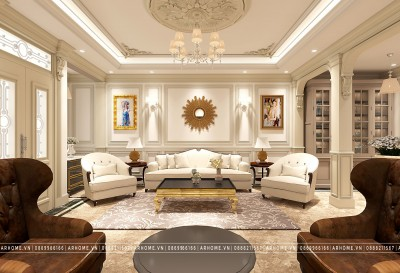 Thiết kế nội thất nhà phố tân cổ điển chuẩn Châu Âu
