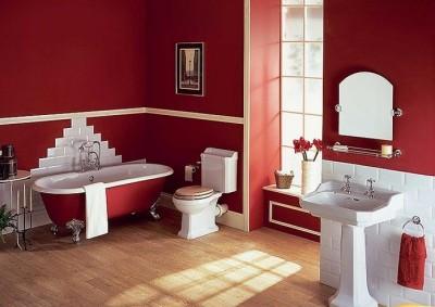 Những ý tưởng tuyệt vời để thiết kế nội thất nhà tắm tông màu đỏ ấn tượng