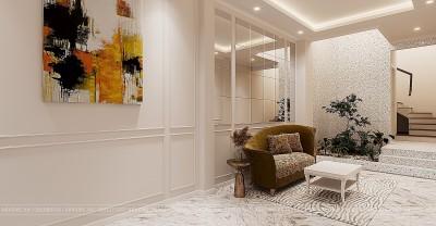 Mẫu thiết kế nội thất nhà ống tân cổ điển sang trọng quý phái