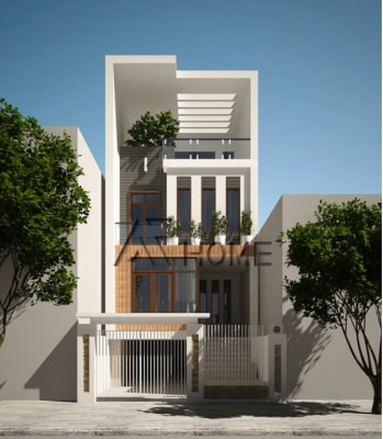 Mẫu thiết kế nhà phố 3 tầng hiện đại nhà anh Huy, Vĩnh Phúc