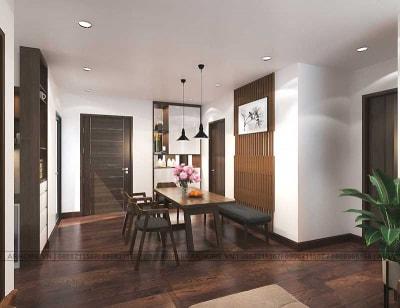 Thiết kế nội thất chung cư hiện đại 3 phòng ngủ 90m2 của chị Linh