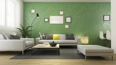 5 mẫu thiết kế nội thất phòng khách màu xanh đẹp ấn tượng
