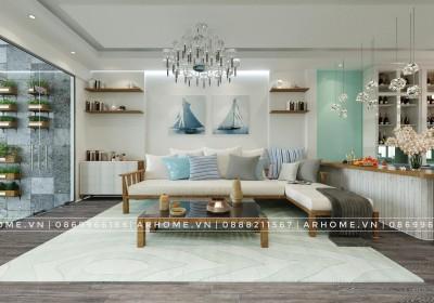 Top 3 phong cách thiết kế nội thất phòng khách tông xanh được mong đợi năm nay