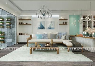 Thư thái với thiết kế nội thất nhà chị Thu theo phong cách Coastal
