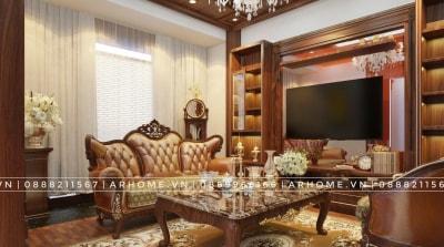 Top 5 thiết kế nội thất phòng khách Tân cổ điển đẹp nhất năm nay