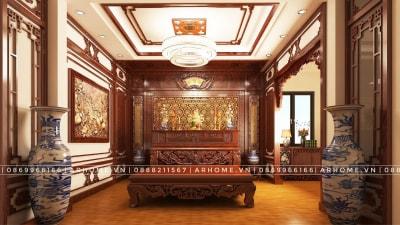 5 mẫu thiết kế nội thất phòng thờ đẹp dẫn đầu xu hướng của Arhome
