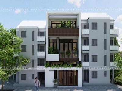 Đẹp hiện đại với thiết kế nhà 2 tầng 1 tum 5x14m của anh Lương, Hà Nội