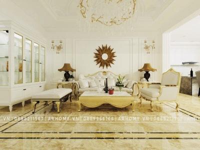 Tuyệt đẹp với Thiết kế nội thất tân cổ điển chung cư The Legacy của chị Huyền