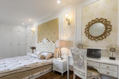 Thực tế thi công nội thất phòng ngủ tân cổ điển của chung cư nhà chị Huyền