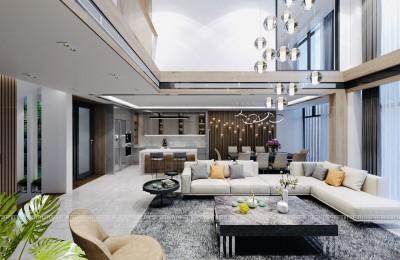 Cực chất với thiết kế nội thất nhà phố hiện đại thông tầng kiểu Duplex