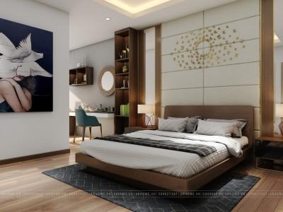 Cực sang với mẫu thiết kế nội thất phòng ngủ nhà phố hiện đại 25m2 của cô Toàn