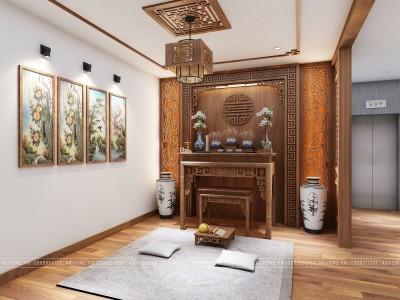 Lưu ý khi thiết kế thi công nội thất phòng thờ truyền thống cho nhà ở