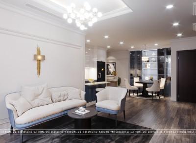 Chất phát ngất với thiết kế nội thất căn hộ chung cư Time City Tân cổ điển