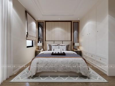 Ở cực chất với thiết kế nội thất phòng ngủ nhà liền kề của anh Khoa - Happy Land