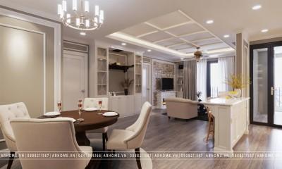 Mẫu thiết kế nội thất chung cư tân cổ điển đẹp nổi bật năm 2021