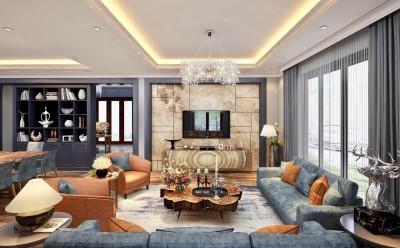 Tuyệt tác thiết kế nội thất biệt thự phong cách Luxury dự án Vinhomes