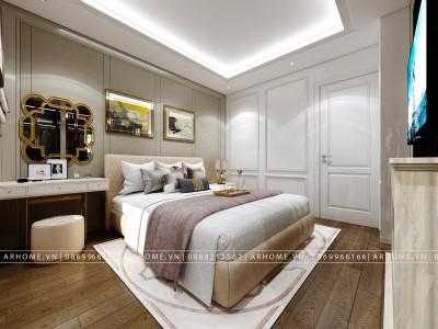 Mẫu thiết kế nội thất phòng ngủ master lịch lãm cho tuổi trung niên